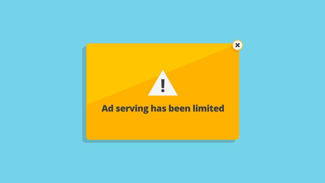Adsense Ad Serving has been Limited